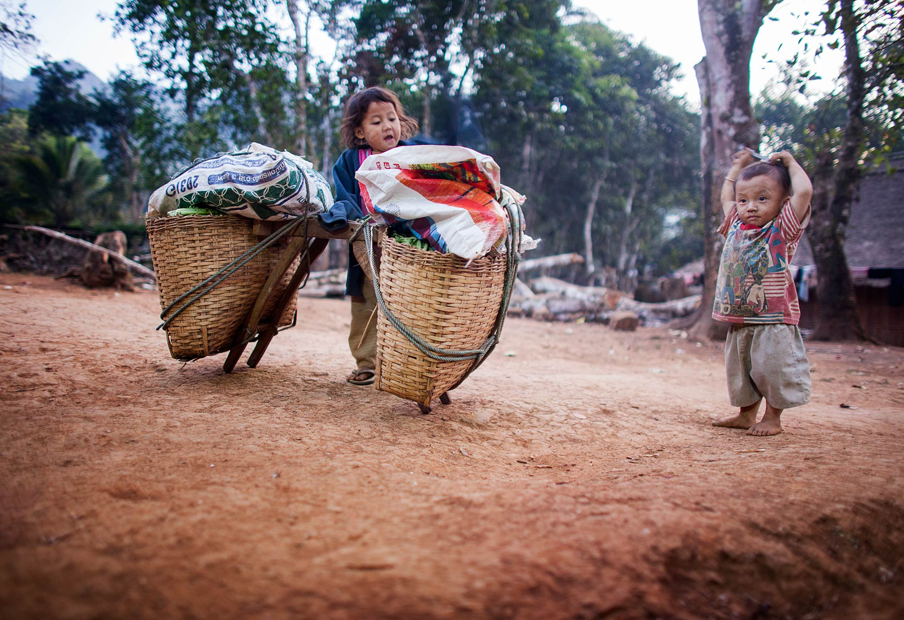 Laos children playing