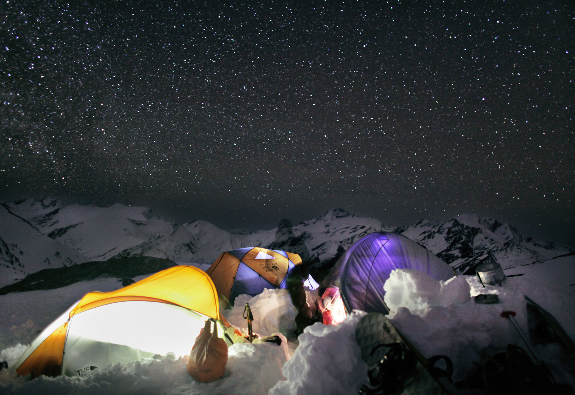 Snow camping Southern Alps