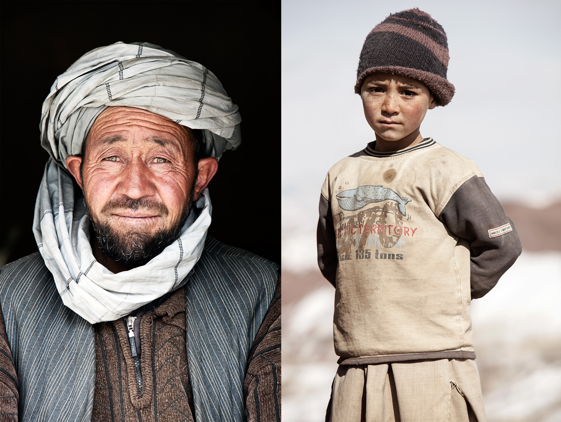 Afghanistan man and boy